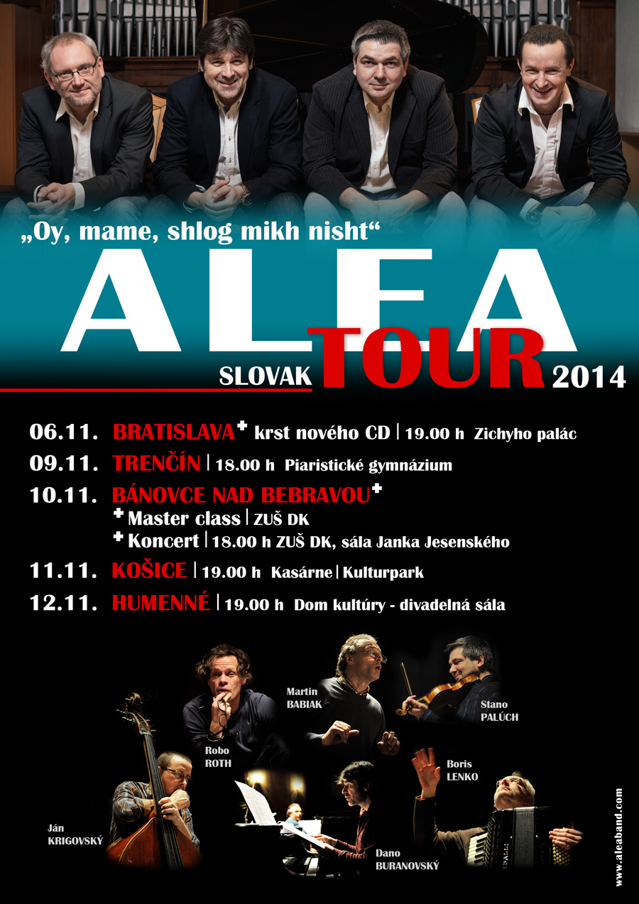 Plagát Alea On Tour 2014